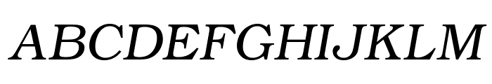 ER Bukinist 1251 Italic Font UPPERCASE