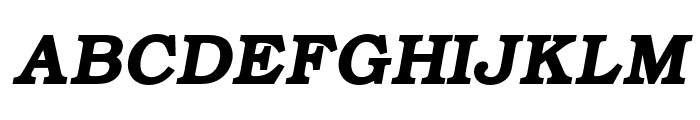 ER Bukinist KOI-8 Bold Italic Font UPPERCASE