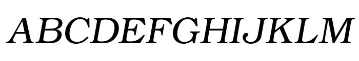 ER Bukinist KOI-8 Italic Font UPPERCASE