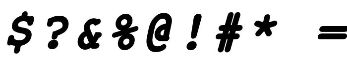 ER Kurier 1251 Bold Italic Font OTHER CHARS