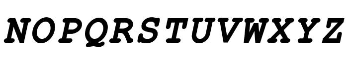 ER Kurier 1251 Bold Italic Font UPPERCASE