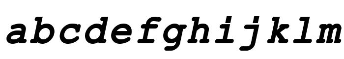 ER Kurier 1251 Bold Italic Font LOWERCASE