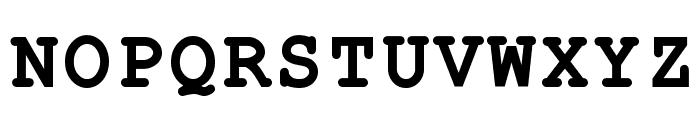 ER Kurier 1251 Bold Font UPPERCASE