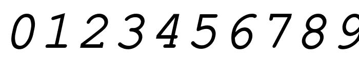 ER Kurier 1251 Italic Font OTHER CHARS