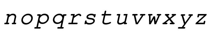 ER Kurier 1251 Italic Font LOWERCASE