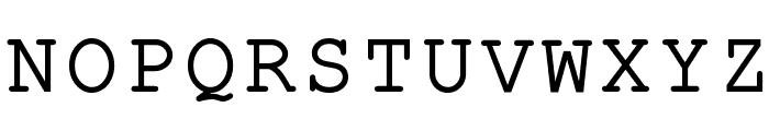 ER Kurier 1251 Font UPPERCASE
