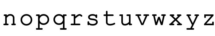 ER Kurier 1251 Font LOWERCASE