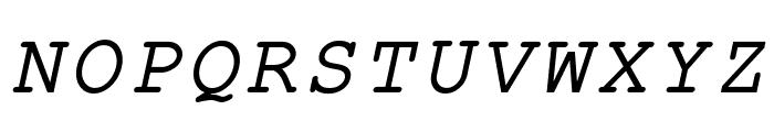 ER Kurier KOI-8 Italic Font UPPERCASE