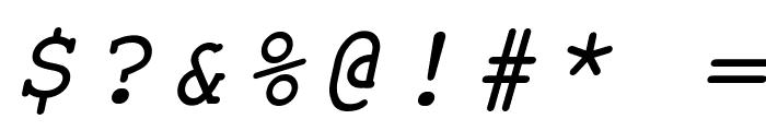 ER Kurier Mac Italic Font OTHER CHARS