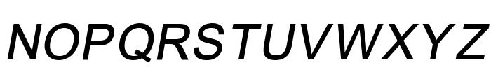 ER Univers 866 Italic Font UPPERCASE