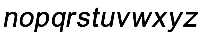 ER Univers 866 Italic Font LOWERCASE