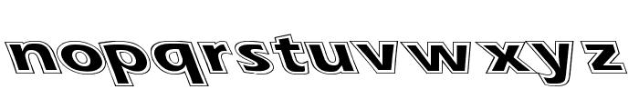 Eras Contour Lefty Wide Font LOWERCASE