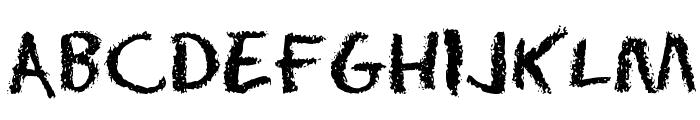 Eraser Dust Font UPPERCASE
