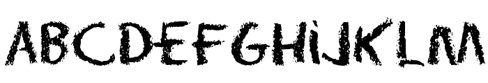 Eraser Dust Font LOWERCASE