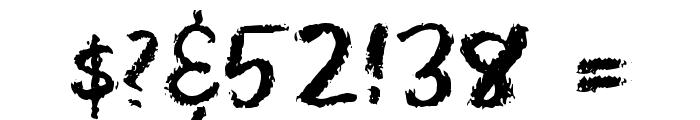 Eraser Regular Font OTHER CHARS