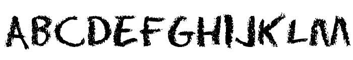 Eraser Regular Font UPPERCASE