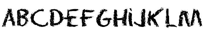 Eraser Regular Font LOWERCASE