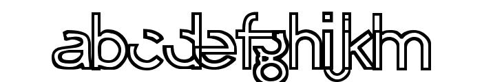 Erasure Regular Font LOWERCASE