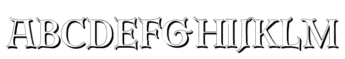 Erbar Initialen Shadow Font UPPERCASE
