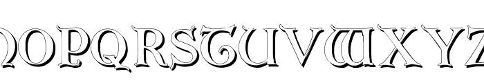 Erbar Initialen Shadow Font LOWERCASE