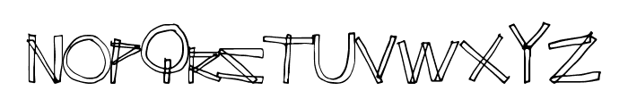 ErectAngle Font UPPERCASE