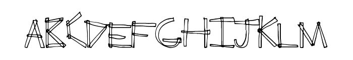 ErectAngle Font LOWERCASE