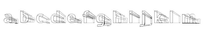 Erectlorite Light Font LOWERCASE