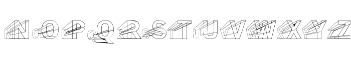 Erectlorite Reft Font UPPERCASE