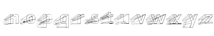 Erectlorite Reft Font LOWERCASE