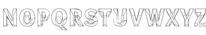 Erectlorite Font UPPERCASE