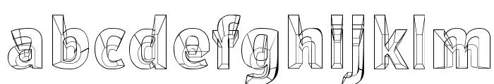 Erectlorite Font LOWERCASE