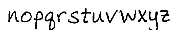 EricasHandwriting Font LOWERCASE