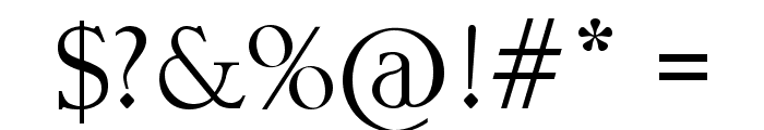 Erie Roman Font OTHER CHARS