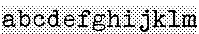 Erikas Farbband-Bold Font LOWERCASE
