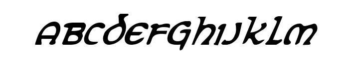 Erin Go Bragh Condensed Italic Font UPPERCASE