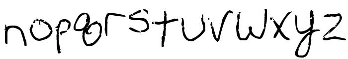 Erin's Handwriting Font LOWERCASE