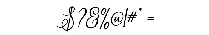 ErittaSlant-Bold Font OTHER CHARS