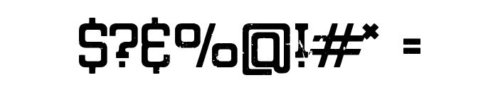 Eroded Denim Font OTHER CHARS