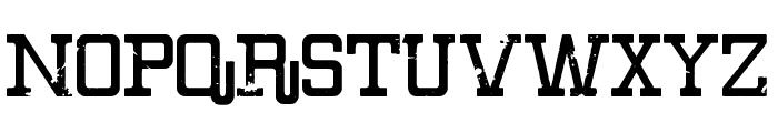 Eroded Denim Font LOWERCASE
