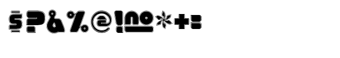Eraser Fifteen Gauge Font OTHER CHARS