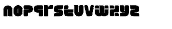 Eraser Fifteen Gauge Font LOWERCASE