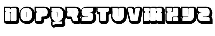 Eraser Forty Gauge Font UPPERCASE