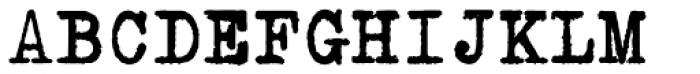 Erased Typewriter2 Bold Font UPPERCASE