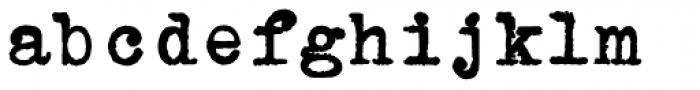 Erased Typewriter2 Bold Font LOWERCASE