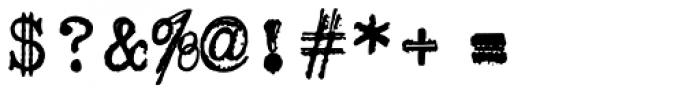 Erased Typewriter2 Font OTHER CHARS
