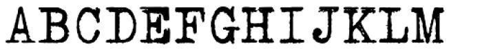 Erased Typewriter2 Font UPPERCASE