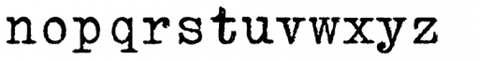 Erased Typewriter2 Font LOWERCASE