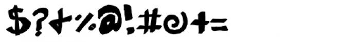 Eraser Carved Font OTHER CHARS