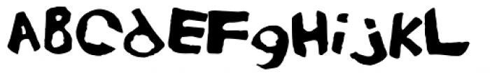 Eraser Carved Font UPPERCASE