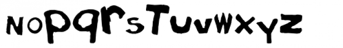 Eraser Carved Font LOWERCASE